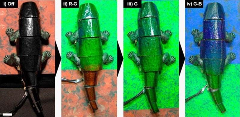 camaleonte robot che cambia colore